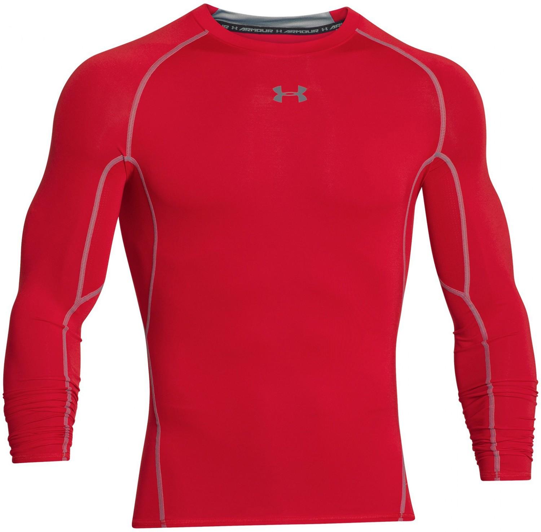 fa992971f08c2b Under Armour HeatGear Long Sleeve Red - Ubrania męskie do squasha ...