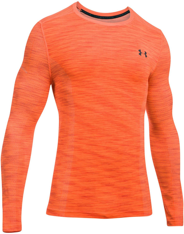 48962fb1730e04 Under Armour Threadborne Seamless Long Sleeve Orange - Ubrania ...