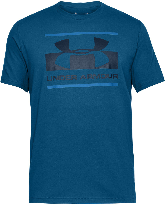 under armour blocked sportstle logo blue ubrania męskie