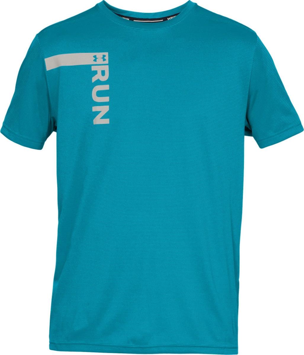ddc0d8d58 Under Armour UA Run Tall Graphic Short Sleeve Blue - Ubrania męskie ...