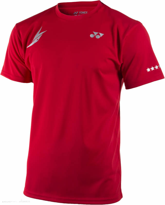 77e08bfd72cac9 Yonex T-Shirt 16004 Lin Dan Dark Red - Ubrania męskie do squasha ...