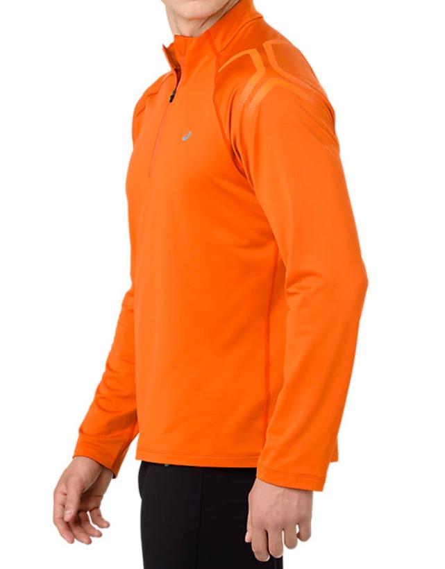 7d2347c0b0 Asics Icon Winter Long Sleeve 1/2 Zip Top Orange