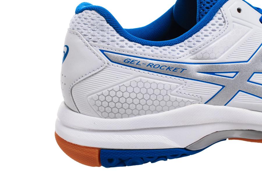 ffed28ba83d75 Asics Gel-Rocket 8 White/Blue - Buty do squasha - męskie - sklep