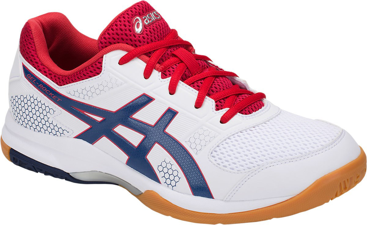 Asics Gel Rocket 8 White Deep Ocean