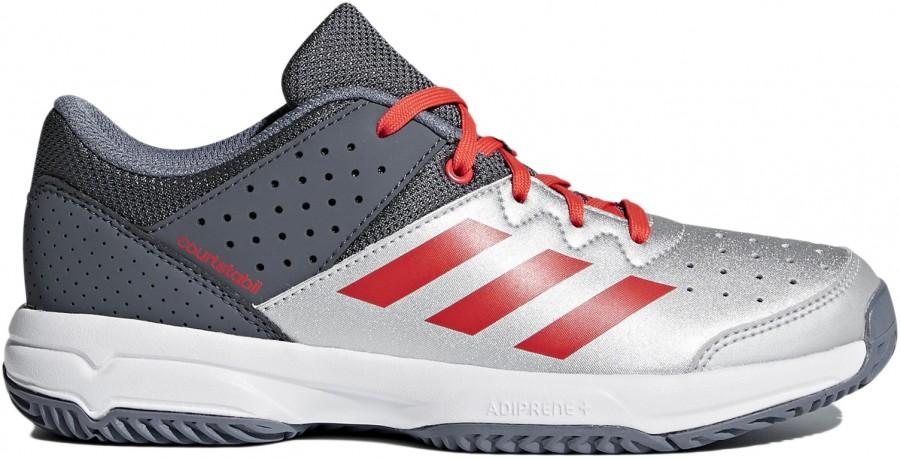 ede57ddf Adidas Court Stabil JR Silver Red - Buty do squasha - dla dzieci - sklep