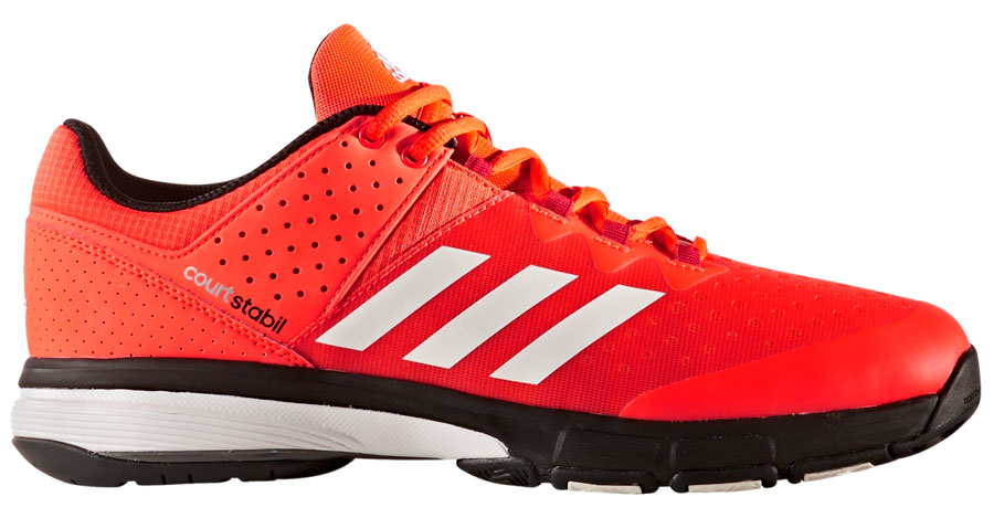 Adidas Court Stabil Solar Red squash shoes