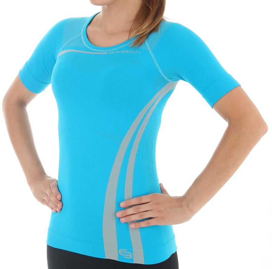 5886669fe63517 Brubeck Koszulka Inspiration Lazur - Ubrania damskie squash - sklep ...
