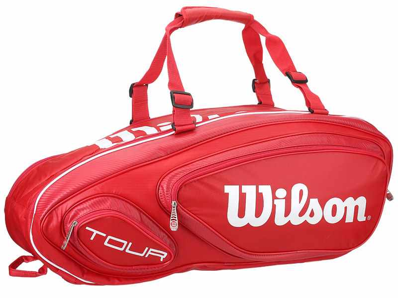 5dc2bf0a10d2e Wilson Tour V 9 Pack Red - Torby na rakiety