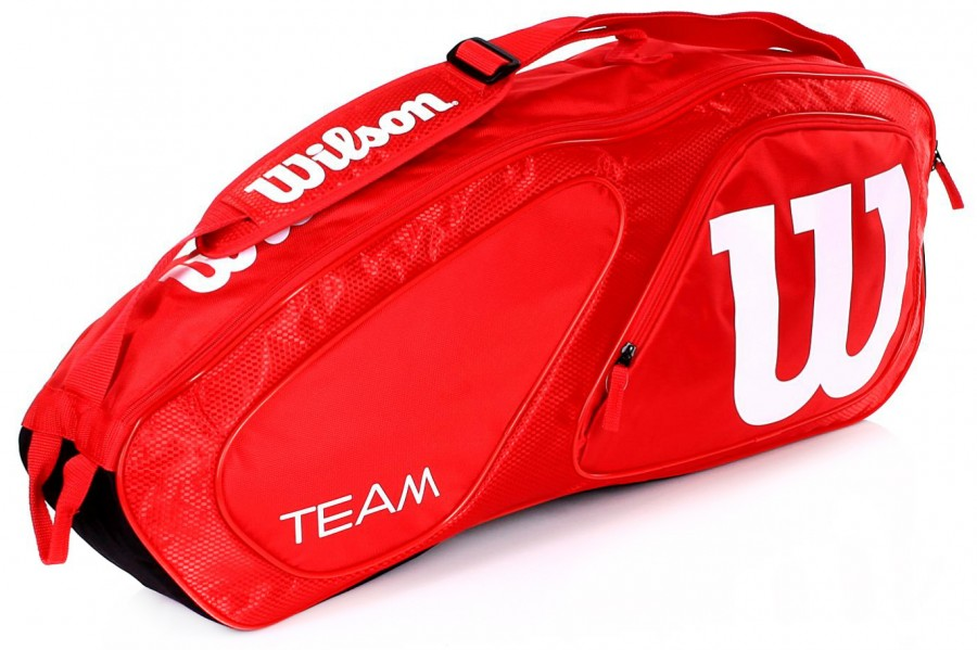 d94ff7aa12707 Wilson Team II 3PK Bag Red - Torby na rakiety