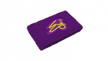 Eye Wristband Purple with Yellow Logo 2szt