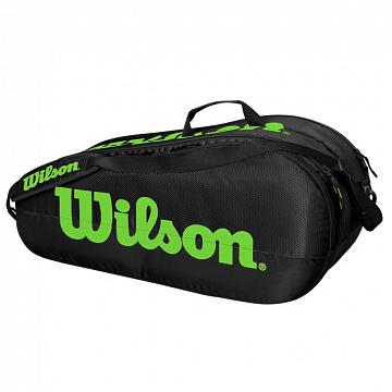 Wilson Team 2 Pack Competition Bag 6R Black / Green