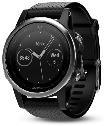 Garmin Fenix 5S HRM Elevate Silver / Black Band
