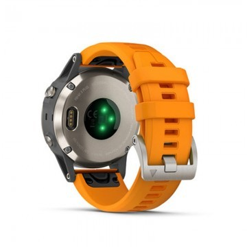 Garmin Fenix 5 Plus Sapphire Titanium / Orange Band