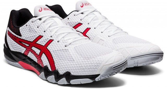 ASICS Gel-Blade 7 White / Classic Red