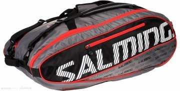 Salming ProTour 12 Racket Bag Bk/Rd