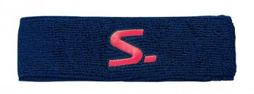 Salming Knitted Headband Navy / Coral