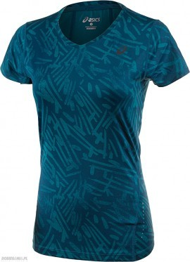 Asics Allover Graphic Top SS 0131 Blue