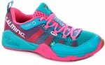 Salming Kobra Turquoise Pink squash shoes for women