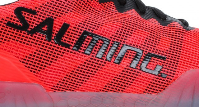 Salming Hawk Shoe Men Black Lava Red