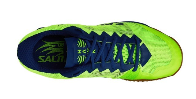 Salming Hawk Shoe Men Fluo Green Navy Blue