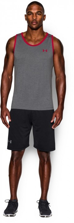 Under Armour Tech Tank Graphite / Red