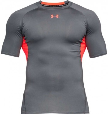 Under Armour Short Sleeve Grey Orange