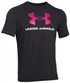 Under Armour Charged Cotton® Sportstyle Logo Black Pink