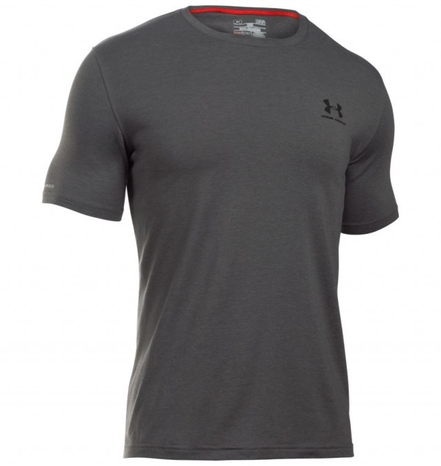 Under Amorur Chargerd Cotton Left Chest Lockup Black