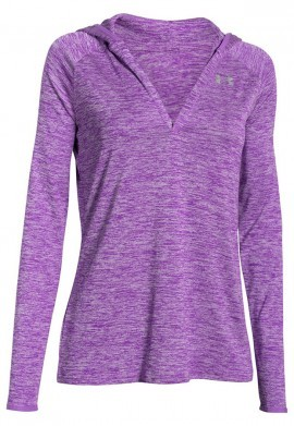 bluza damska Under Armour Tech LS Hoody Twist Magenta