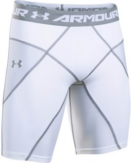 Under Armour HeatGear Core Short White