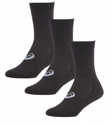 Asics Crew Sock 0900 Black 3 Pack
