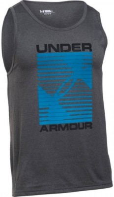 Under Armour Turned Up Tank Ciemnoszary