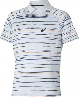 Asics Club Graphic Short Sleeve Polo 0106 Biały