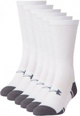 Under Armour Men's Resistor III Crew White 6 Pack