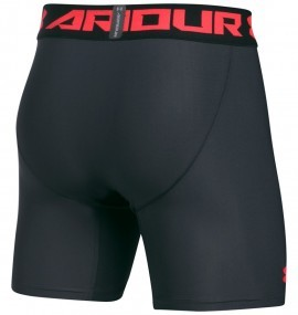 Under Armour HeatGear Armour 2.0 Compression Short Grey Red