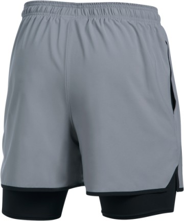 Under Armour Qualifier 2in1 Short Grey/Black