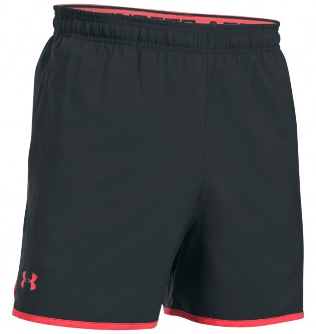 Under Armour Qualifer 5'' Woven Short Black Red