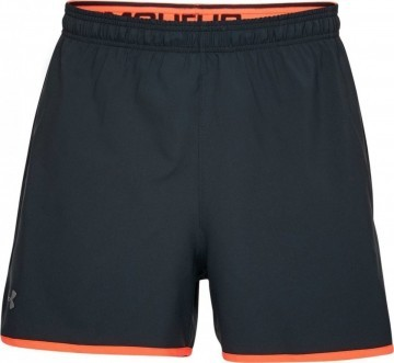 Under Armour Qualifer 5in Woven Short Black Orange