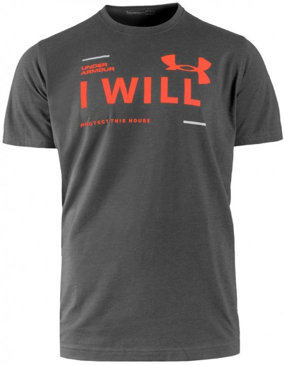 Under Armour I Will Short Sleeve Grey Orange