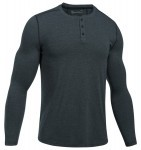Under Armour Theardborne Knit Fitted Henley Grey