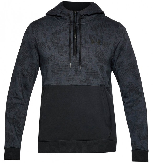 Under Armour Threadborne 1/2 Zip Hoodie Gray Black