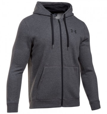 Under Armour Rival Fleece Fitted Full Zip Hoodie Carbon Heather