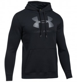 Under Armour Rival Fitted Graphic Hoodie Black