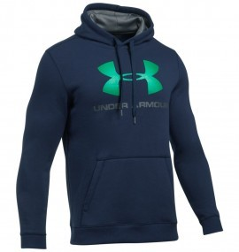Under Armour Rival Fitted Graphic Hoodie Navy