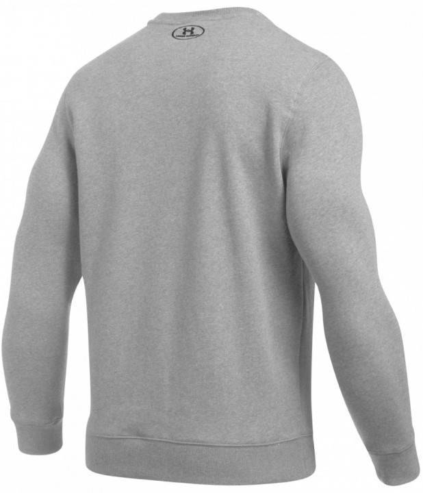 Under Armour Rival Solid Fitted Crew Grey