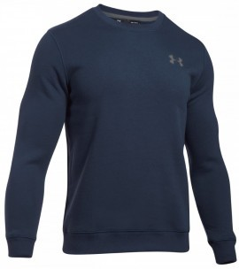 Under Armour Rival Solid Fitted Crew Blue