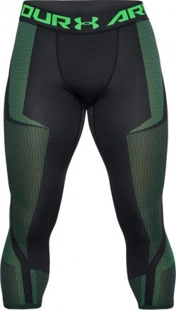 Under Armour Threadborne Seamless 3/4 Leg Black Green