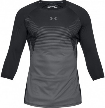 Under Armour Threadborne Vanish 3/4 Sleeve Black