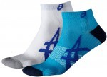 Asics Lightweight Sock Blue/White 2 Pack
