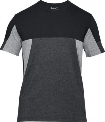 Under Armour Sportstle Colorblock Tee Black Gray